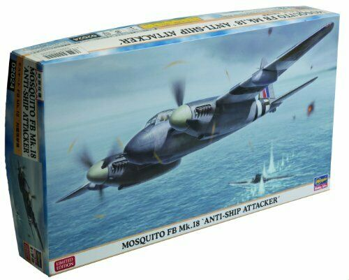 Mosquito Mk18 Anti Ship Attacker Aircraft Plastic Kit 1:72 Model HASEGAWA