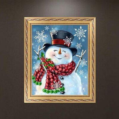 DIY 5D Diamond Embroidery Happy Snowman Painting Cross Stitch Crafts Home Decor
