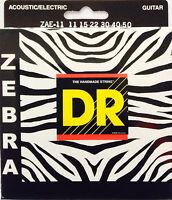 Dr Zebra Acoustic-electric Guitar Strings Zae-11 Med-lite 11-50