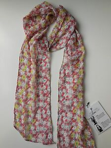 LADIES-LONG-NARROW-FLORAL-SCARF-LIGHTWEIGHT-NEW