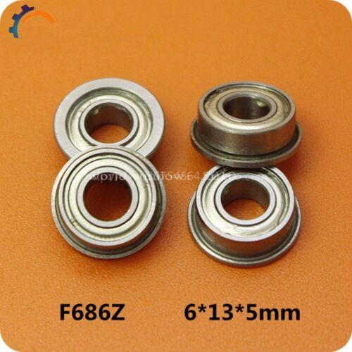 10PCS Miniature deep groove ball bearing flange bush F686Z LF-1360