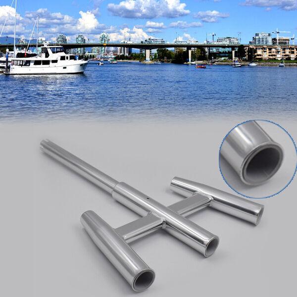 3 Trident Fishing Aluminum Rod Holder Cluster Kite Fishing For Boat Kayak GOOD