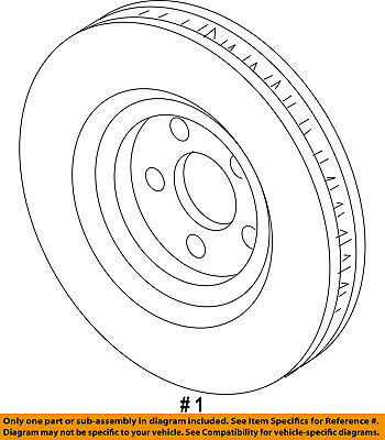 FORD OEM Front Brake-Disc Rotor GG1Z1125A