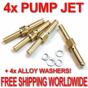 4x-ACCELERATOR-PUMP-JET-30-35-40-45-50-55-60-WEBER-DCOE-ALLOY-WASHERS-76801
