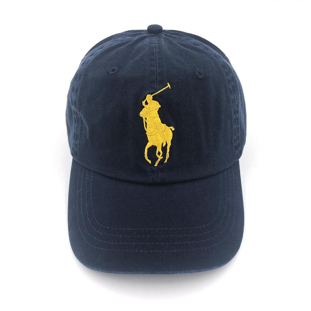 Polo Baseball Cap With Fine Embroidery 3 Logo Big Pony Logo 3 Adjustable Men's Hat NWT cb648b