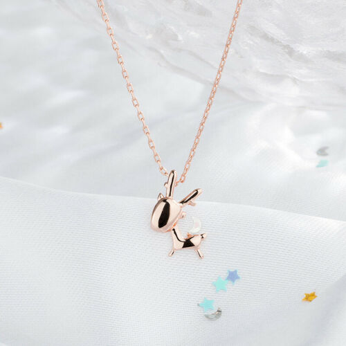 Deer Clavicle Necklace in Sterling Silver rose gold silver necklace