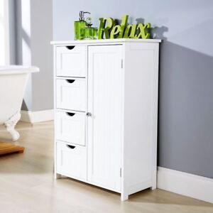 Image Is Loading Multi Use Bathroom Cabinet 4 Drawer 1 Door