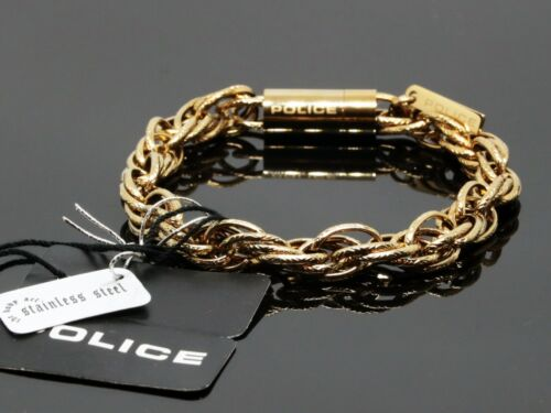 Police glamour banda pulsera de acero inoxidable oros pj25491bsg//02-s 20 cm