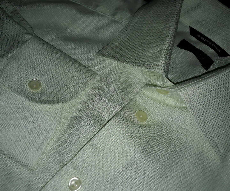 Eton Of Sweden Größe 39 15.5 light Grün Wrinkle Free Cotton Dress Shirt