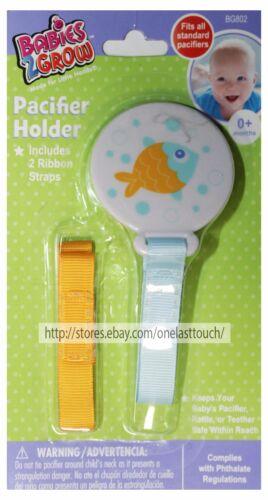 BABIES 2 GROW* Boy//Girl PACIFIER HOLDER Fits Standard RIBBON Straps *YOU CHOOSE*