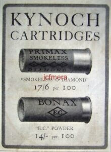 KYNOCH-Primax-amp-Bonax-Shotgun-Cartridge-1921-ADVERT-2-Small-Original-Print-AD