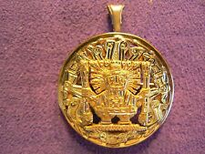 Vintage 18k Gold Peruvian Pendant/Pin/ Brooch, 11.7 Grams, Inca God/Ruler