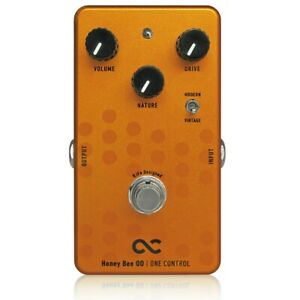 One-Control-Honey-Bee-Overdrive-True-Bypass-BJF-BJFe-Guitar-Effects-Pedal