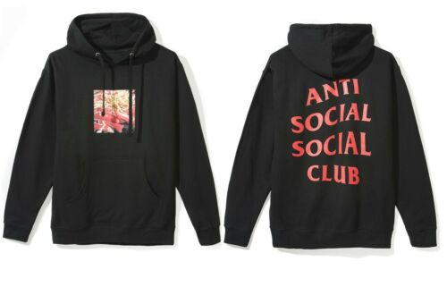 Auth Anti Social Social Club ASSC red logo Banchan Black Hoodie in hand Supreme