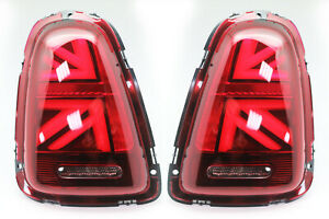 LED-Tail-Lights-For-2006-2009-Mini-Cooper-R56-R57-R58-R59-UNION-JACK-RED-SMOKE