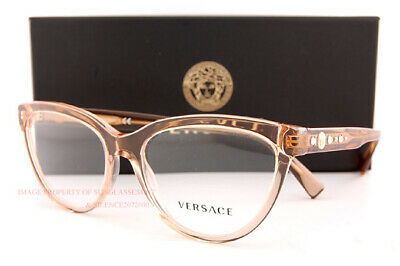 Versace VE3264B Eyeglass Frames 5241-51 Transparent Brown VE3264B-5241-51