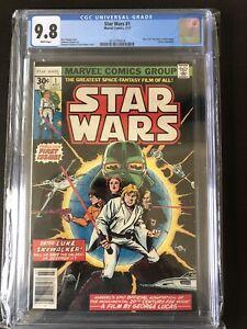 Star Wars 1 CGC 9.8 1977 First print Hot Key Comic Book