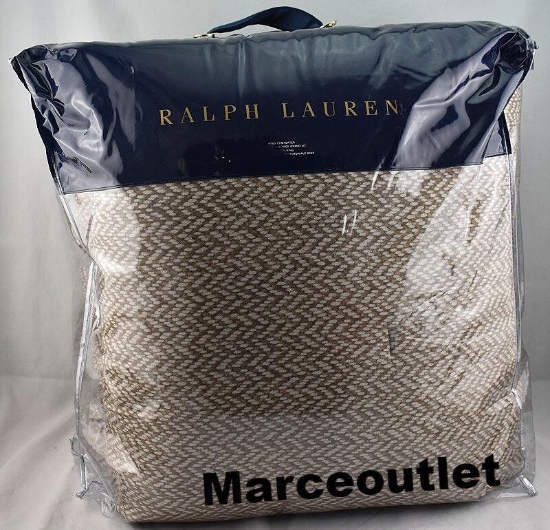Ralph Lauren BRANTLEY MARYLEBONE KING Comforter Brown  430