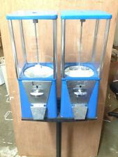 Two Way Oak Vista Candy Toy Gumball Vending Machine No Pipe Stand Decent