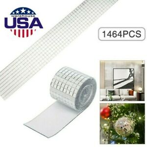 1464-Self-Adhesive-Glass-Mosaic-Sticker-Mini-Square-Mirror-Tiles-Sheet-DIY-USA