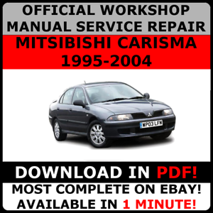 official workshop service repair manual mitsubishi carisma 1995 2000 rh ebay com Lexus 200 Nissan Serena