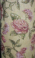 Vintage Elegance Roses Tapestry Upholstery Fabric By The Yard