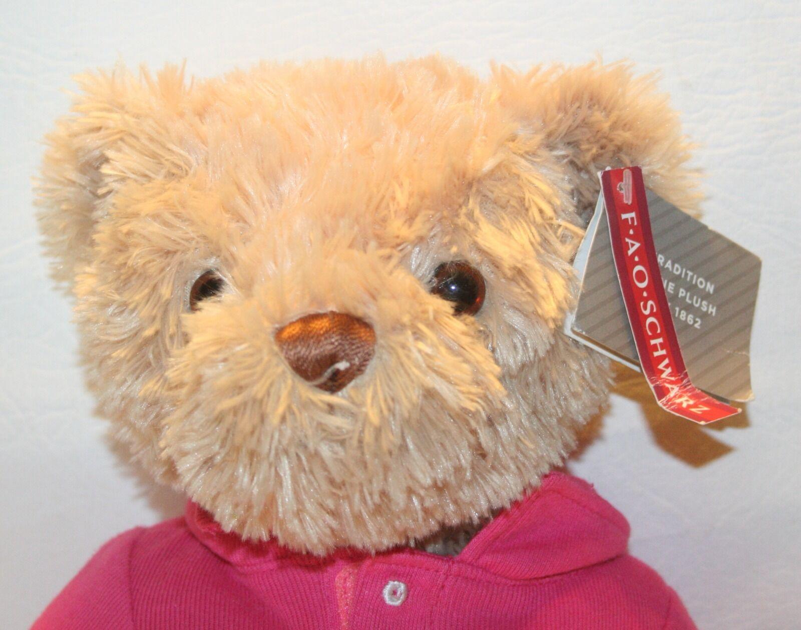 FAO Schwarz Girl Bear Dress dressed in Pink Polo Dress Bear Shirt plush stuffed animal  14