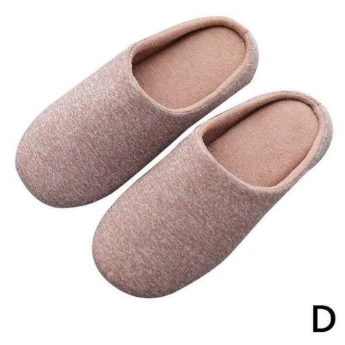 Gemütliche Anti-Rutsch-Memory-Schaum Slipon Hausschuhe Flache Indoor-Schuhe O4F2