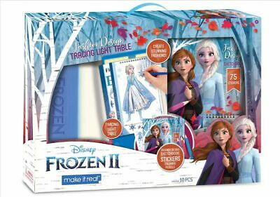 Make It Real Disney Frozen 2 Fashion Design Tracing Light Table Art Drawing Set Ebay
