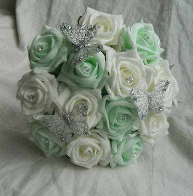 Stunning wedding flowers Bridesmaids/flower girl posie bouquet butterfly