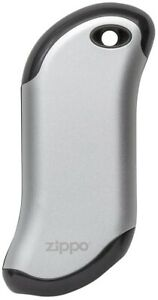 Zippo HeatBank 9 Hour Rechargeable Hand Warmer 120'F/50'C Silver 40511 NEW