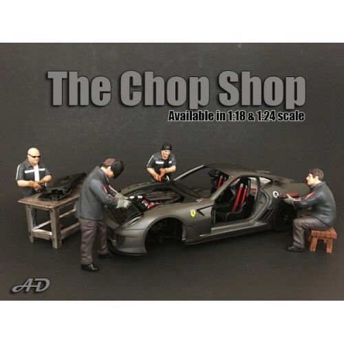1 24 scale NEW -  Chop Shop  Complete Set of 4 figures from  American Diorama