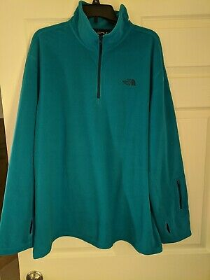 MEN/'S THE NORTH FACE 1//4 ZIP FLEECE JACKET PULLOVER COAT CIRRIFORM BLACK