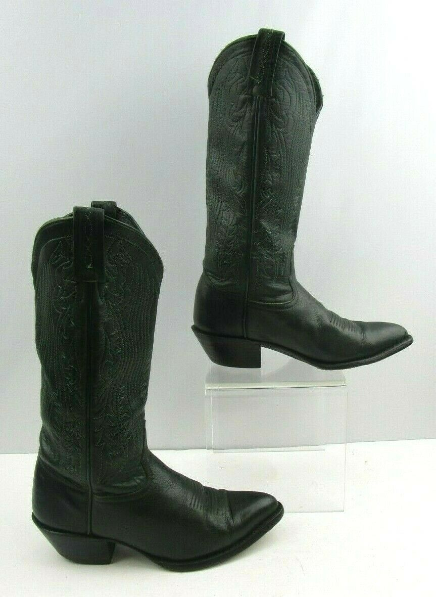 Ladies Tony Lama Dark Green Leather western Cowgirl Boots Size   5.5 M