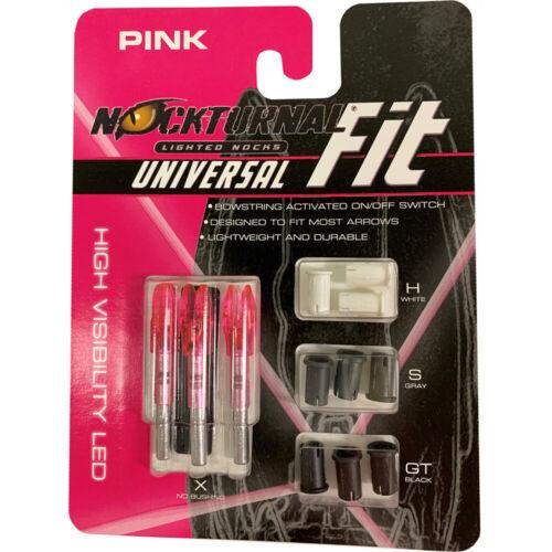 Nockturnal NT-312 Fit Lighted Nocks Pink 3 Pk.