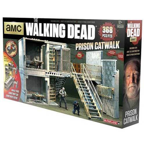 The Walking Dead - Prison Cell Catwalk Building Set NEW McFarlane