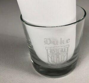 Duke Glass VTG Blue Devils Student Alumni Bar Drink University Hi Ball Jack Coke