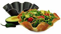 Chicago Non Stick 2 Set Large Tortilla Shell Pans Taco Salad Mold Bowl Maker on sale