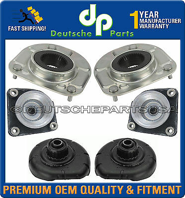 Left+Right Front Shock Strut Mounts w// Bearings Support Mounting Set for Volvo