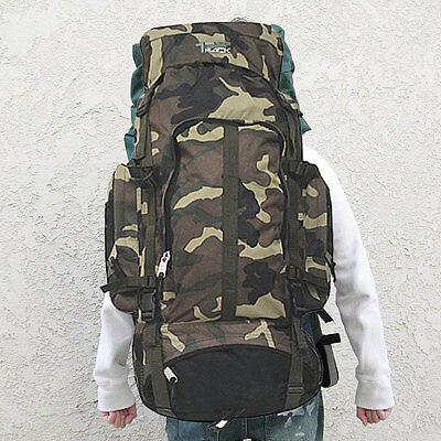 Camo Camping Backpack Travel Outdoor Oversized Backpack Rucksacks Sport XL