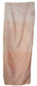 Peach-Floral-Long-Sarong-Cover-Up-10-16-Tie-Side-Gradient-Wrap-Maxi-Beach-Skirt