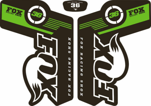 Suspension Factory Style Decal Kit Sticker Adhesive Set Green FOX 36 Forks