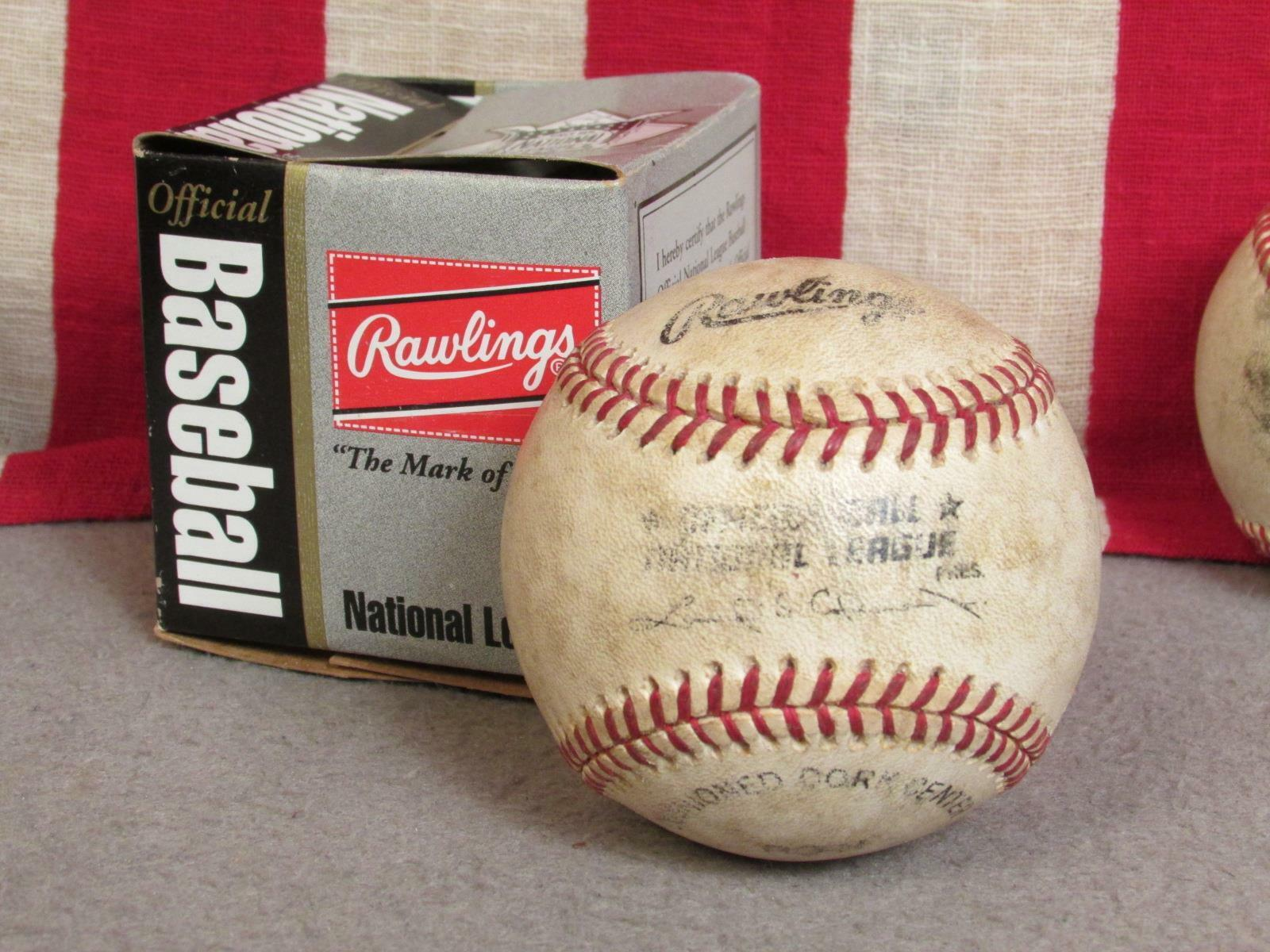 Vintage Group Group Group 3 Wilson Babe Ruth League & Rawlings Nationalen Baseballs 3640bc