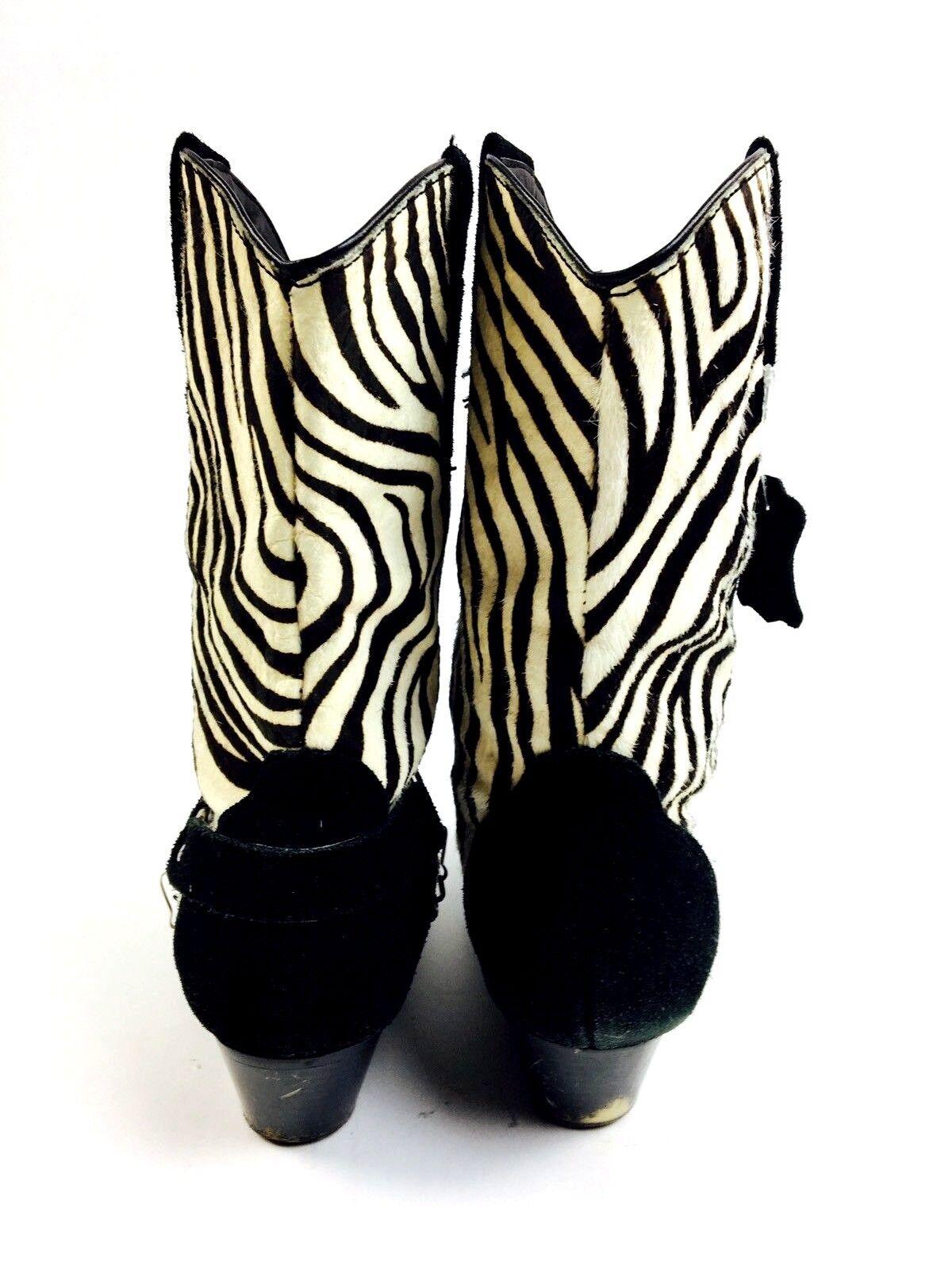 Zebra Cowboy Boots Women's Shoes Women's Boots He… - image 6
