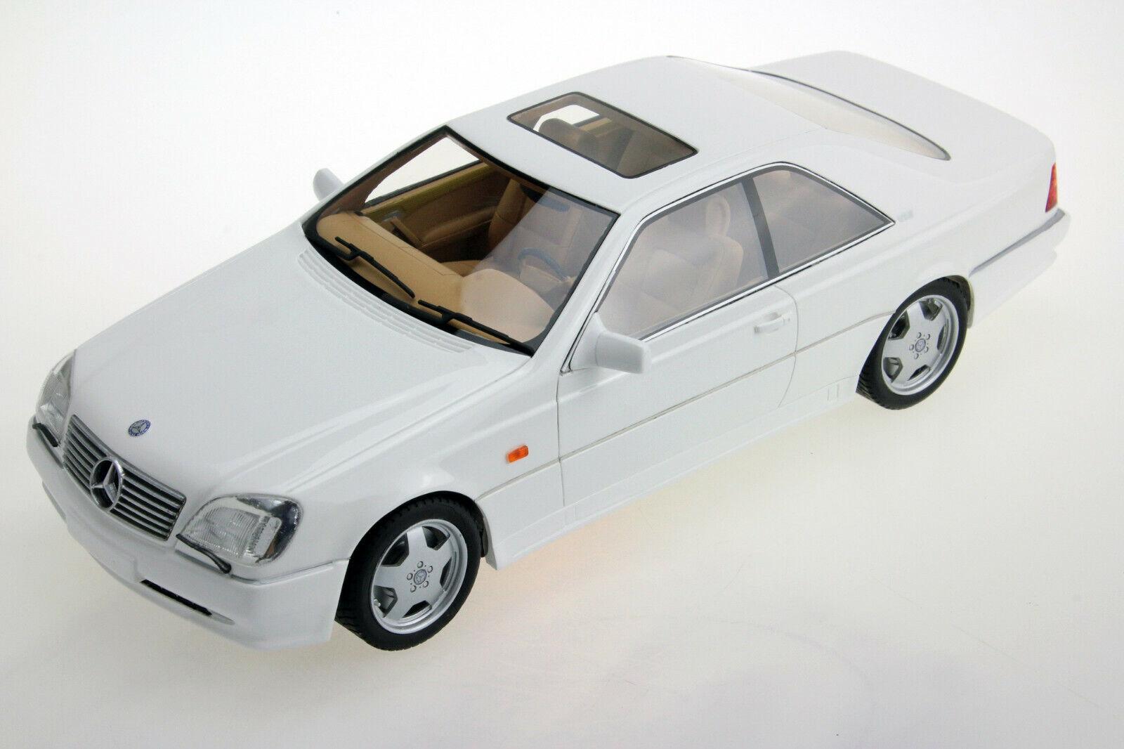 MERCEDES CL 600 AMG 7.0 COUPE 1998 C140 POLAR WHITE LS COLLECTIBLES LS036C 1 18
