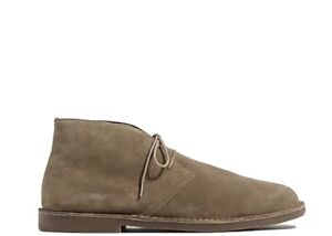 J-Crew-Sz-9-5-Taupe-Suede-Leather-Desert-Chukka-Ankle-Boots-Shoes-Mens