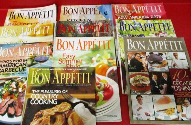 LOT OF (10) BON APPETIT MAGAZINES 2003 Jan - Oct