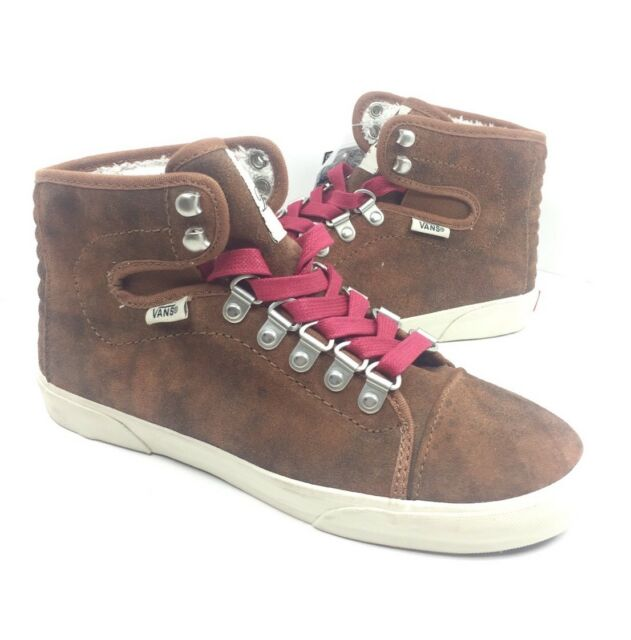 fd8ab2694d VANS Women s Hadley Hiker BOOTS Shoes Brown Red SNEAKERS Size 5 for ...