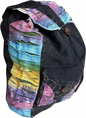Fair Trade Baumwolle Batik Gotik Hippy Boho Kordelzug Rucksack Schultertasche