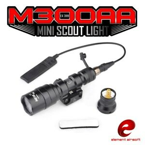 M600C Tactical Hunting LED Scout Light Weapon Flashlight Airsoft Torch 20mm Rail